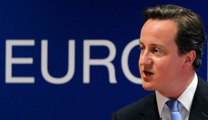 Britain's PM Cameron addresses a news conference after an EU heads of state summit in Brussels